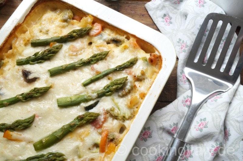 verdure al forno con besciamella