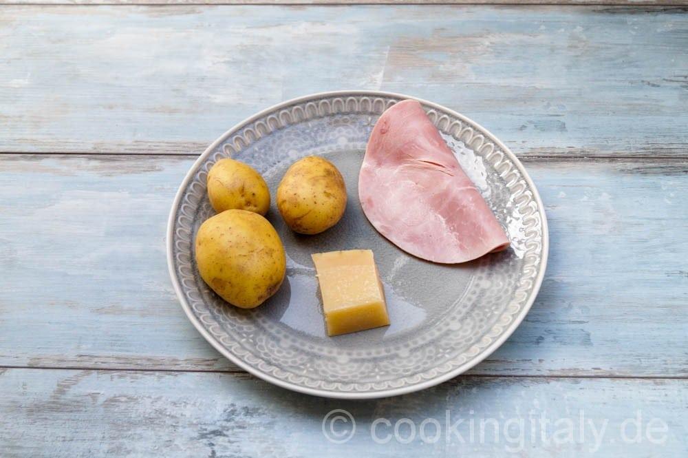 Crocchette di patate - Gefüllte Kartoffel Kroketten