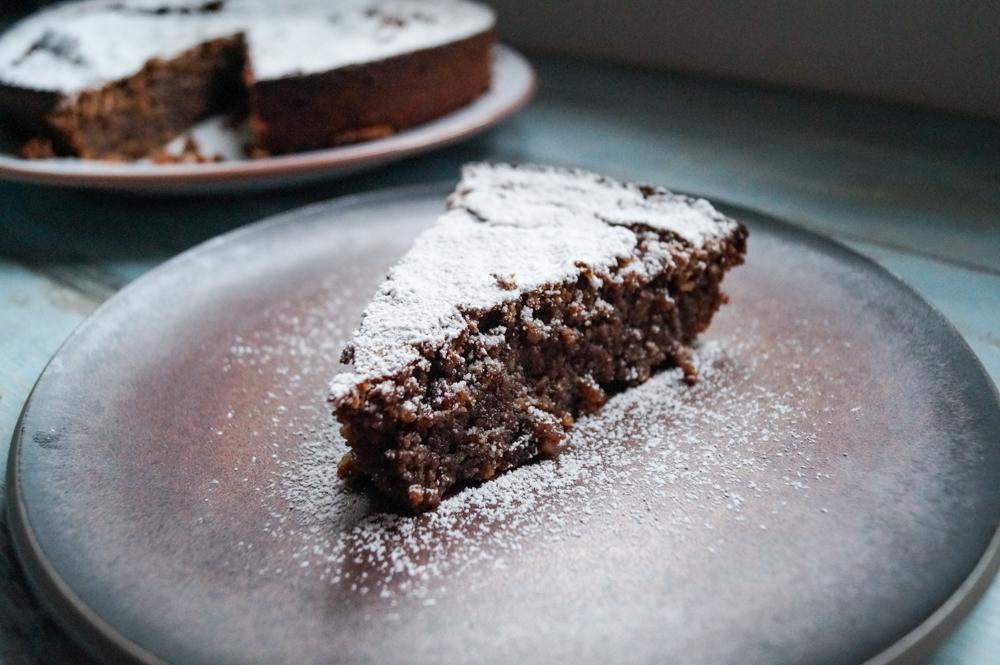 Torta Caprese - Italienischer Schokoladen-Mandel-Kuchen
