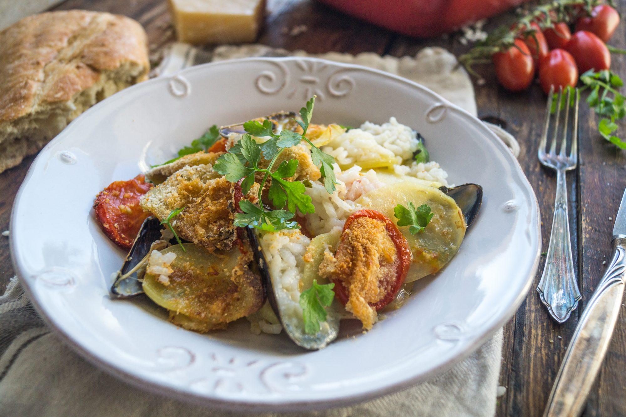 Tiella Barese - Muschel - Kartoffel - Reisauflauf