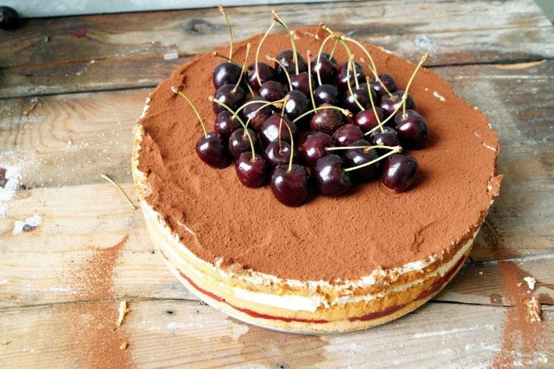 Torta Tiramisu alle ciliege