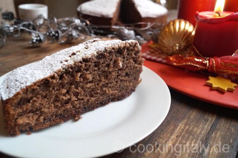 Rotweinkuchen - Torta al vino rosso e cioccolato
