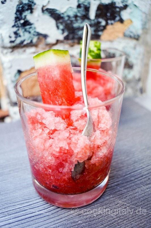 Granita all´anguria - Wassermelonen Granita