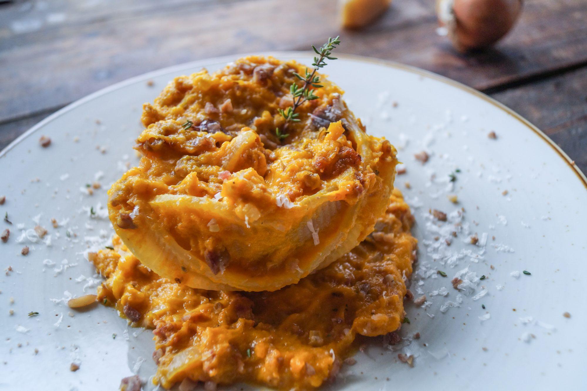Cacavelle al crema di zucca e salsiccia - Cooking Italy