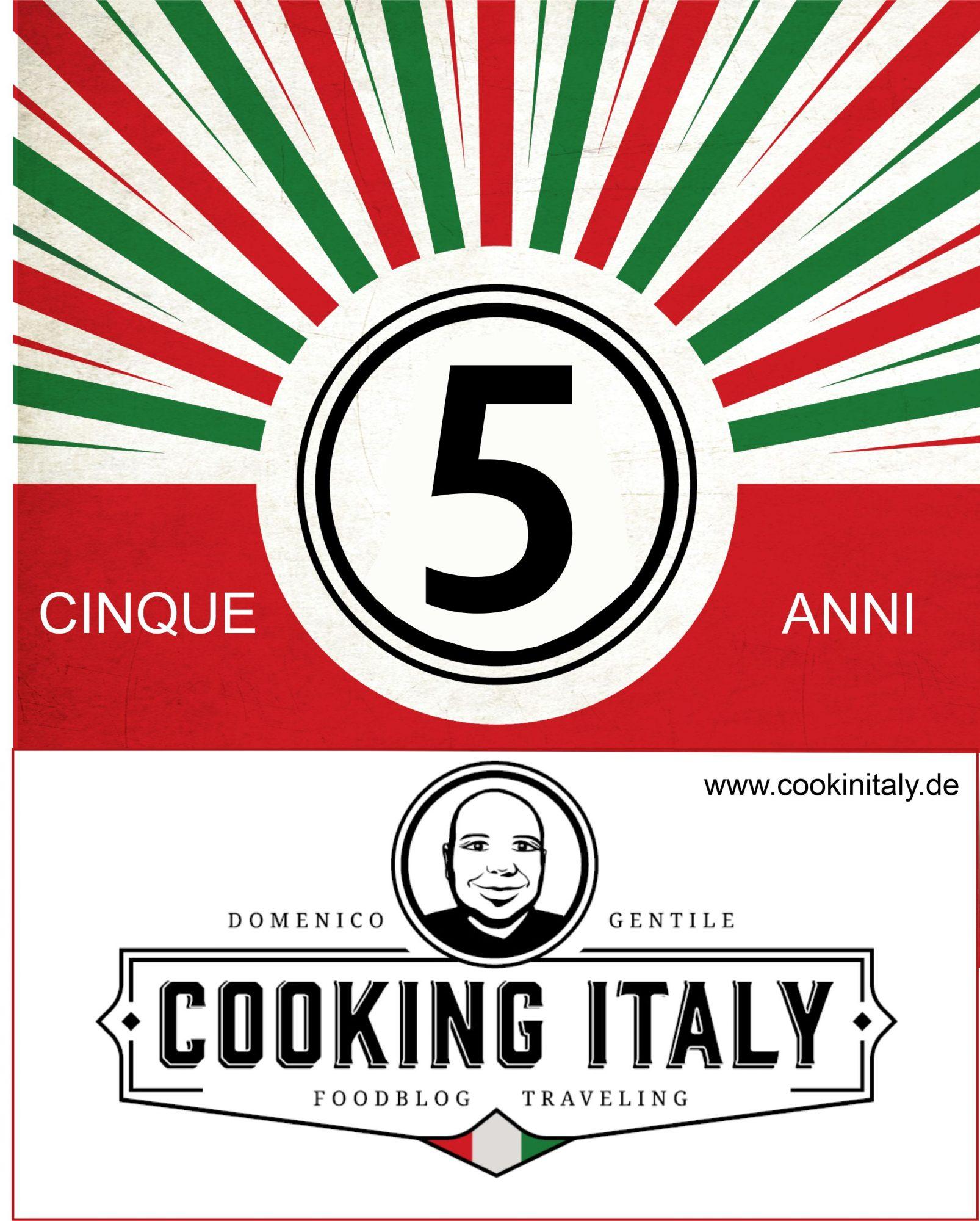 Fünf Jahre Cooking Italy