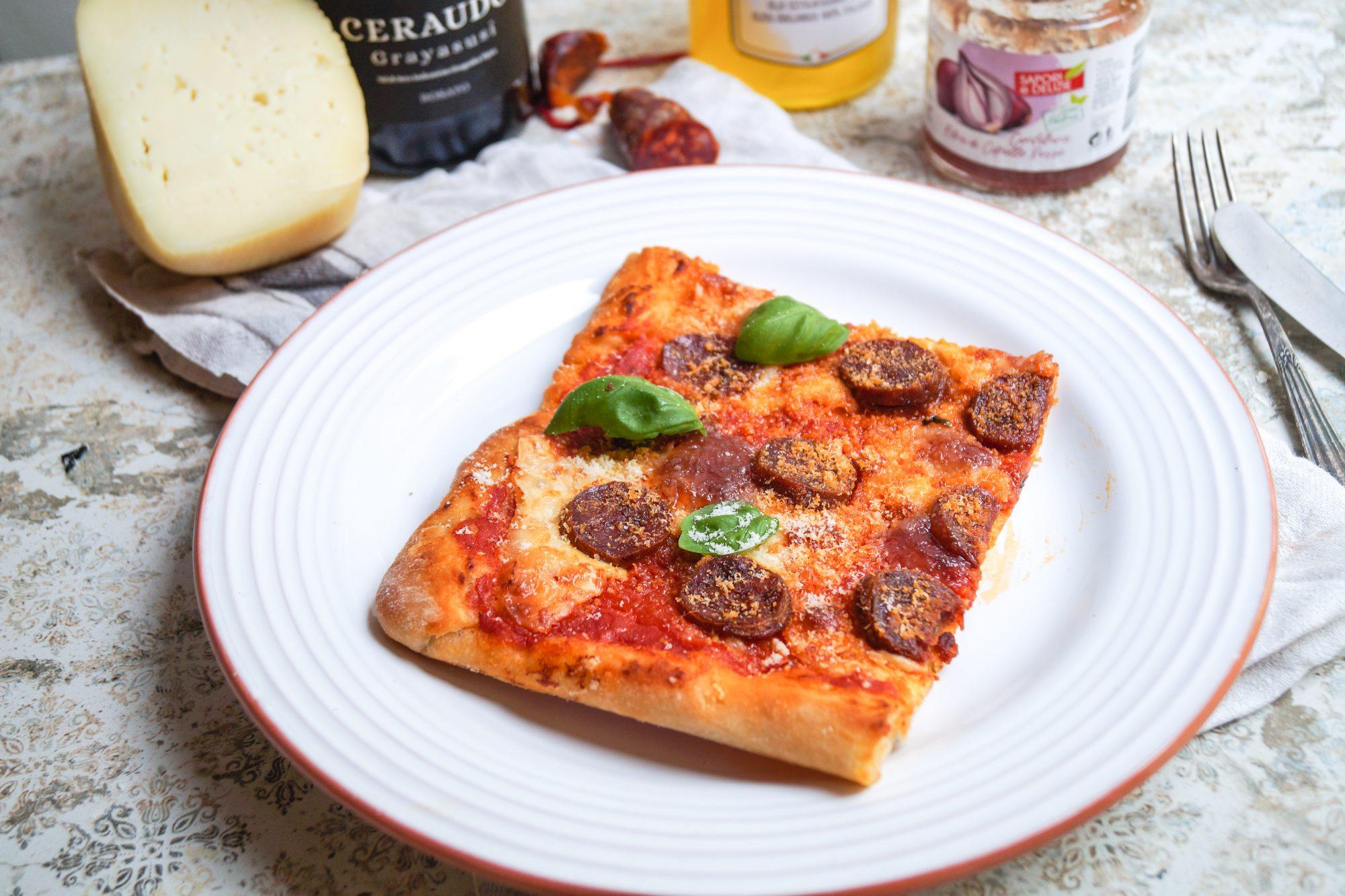Pizza al Teglia alla calabrese