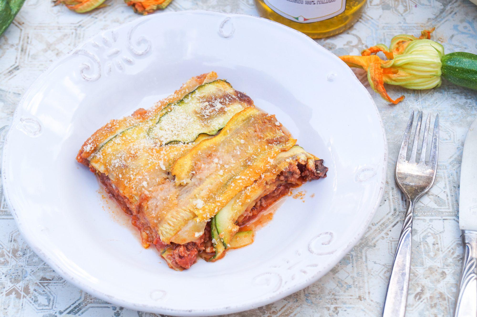 Zucchini Lasagne ohne Pasta