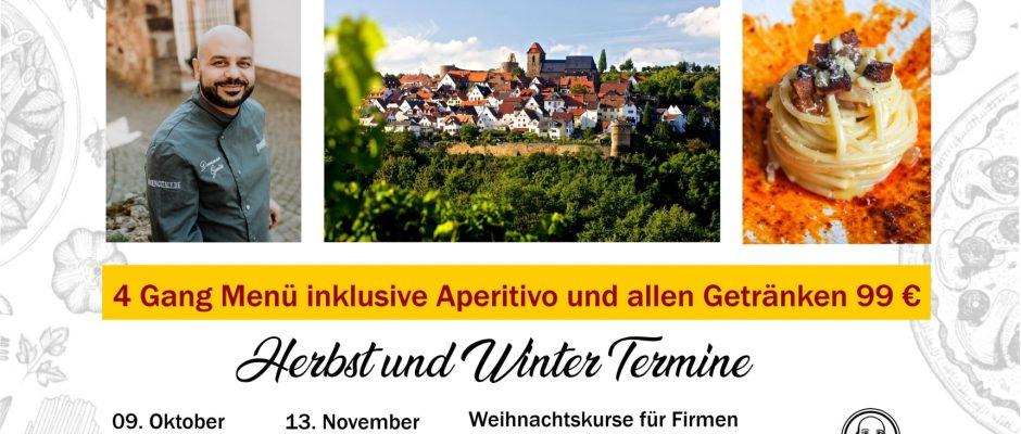Kochkurse mit Domenico Gentile / Herbst und Winter 2021