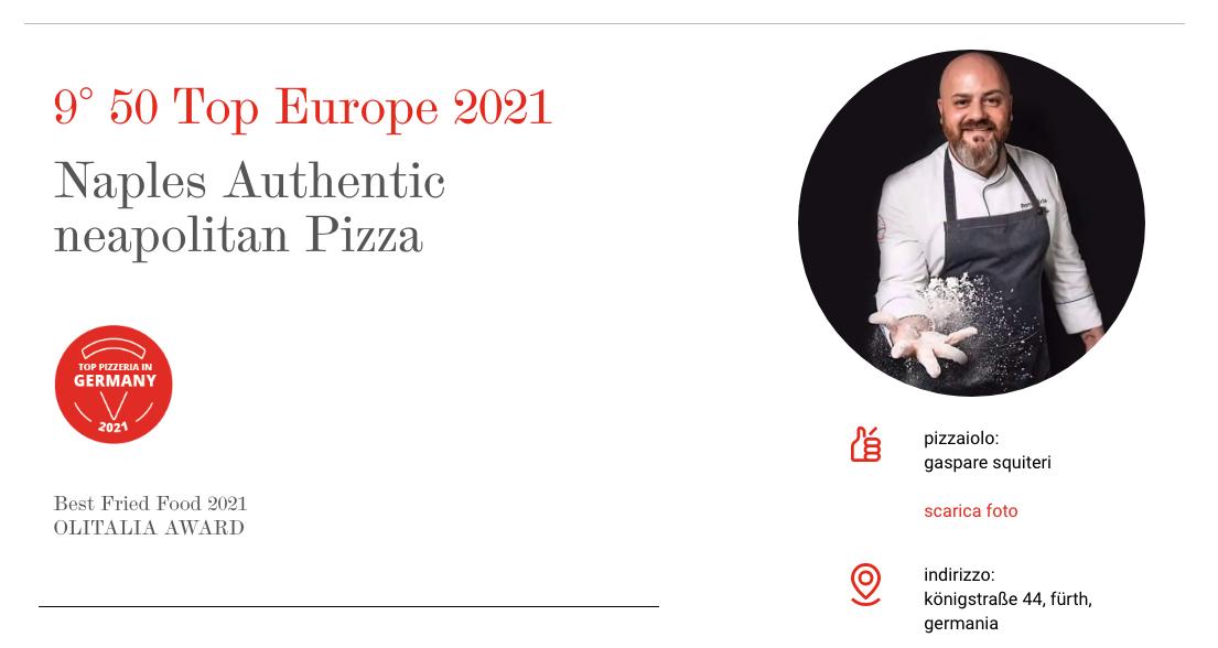 Naples – authentic Neapoletan Pizza wird beste Pizzeria Deutschlands